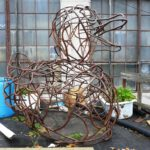 Rebar Duck Sculpture Crafted at the Big Pour