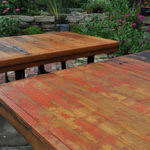 Tables Made From Antique Walk-In Doors