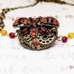 Custom Pendant Made w/Repurposed Jewelry + Watch Parts by Nancy Carol's Jewelry