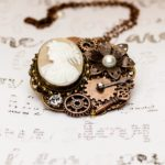 Custom Pendant Made w/Repurposed Jewelry + Watch Parts by Nancy Carol's Jewelry
