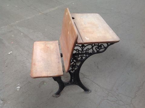 Antique School Desk - Antique School Desk – Construction Junction