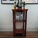 Beverage Cart Made w/Museum Specimen Drawer