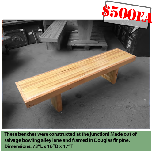 Superb Salvaged Bowling Lane Benches Construction Junction Gmtry Best Dining Table And Chair Ideas Images Gmtryco