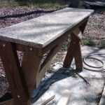 Repurposed Granite Top Bench