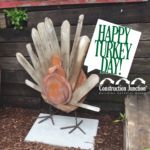 Upcycled Fence Post Turkey Lawn Ornament