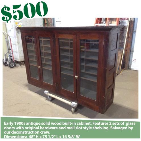 Antique Glass Door Sorting Cabinet