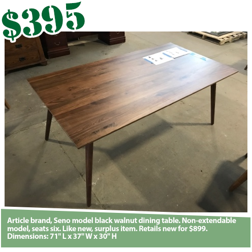 Article Seno Walnut Dining Table