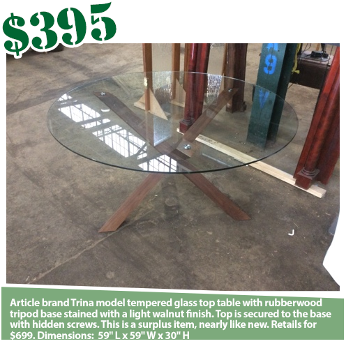 Article Trina Glass Table