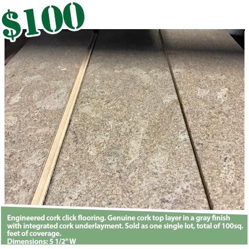 Cork Laminate Flooring - 100SF