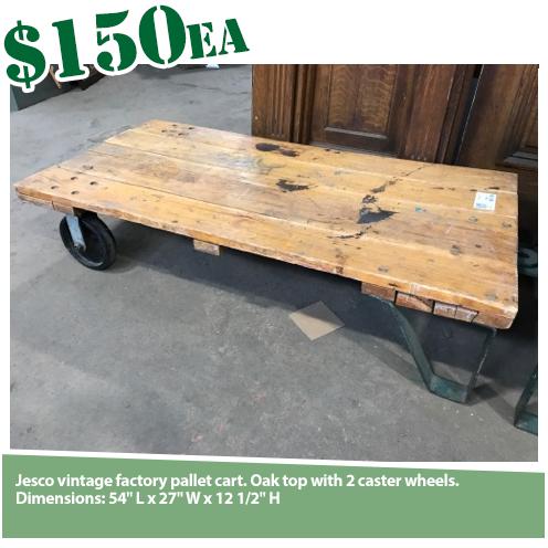 Industrial Oak Top Cart