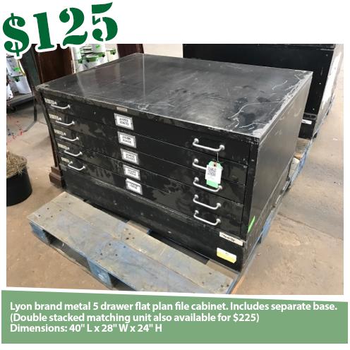 Lyon Flat File Cabinet w/Base