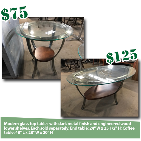 Modern Glass And Metal Tables