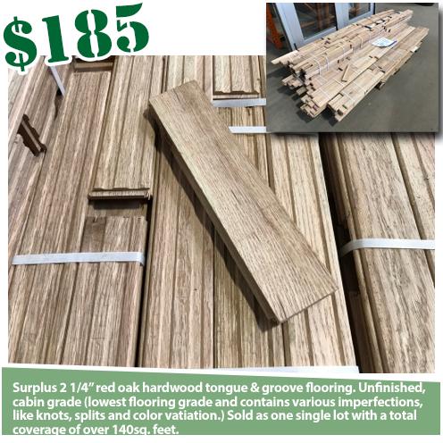Red Oak Tongue And Groove Hardwood Flooring - 140SF