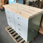 C.at.J Lab Cabinet Base w/Salvaged Lumber Top