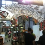 Recycled Mixed Metal Fish Sculpture at Construction Junction