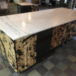 C.at.J Rolling Carts Made for Sprezzatura/Millvale Food Hub w/Reclaimed Marble Top