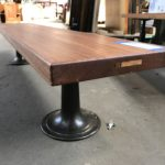 Finished Mahogany Benches Made w/Salvaged Schoolhouse Doors