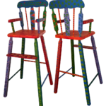 Custom Painted Doll Chair