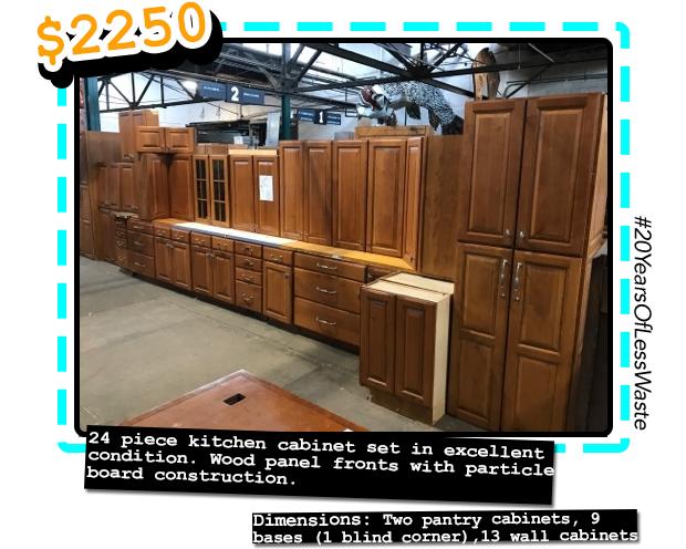 24pc Kitchen Cabinet Set