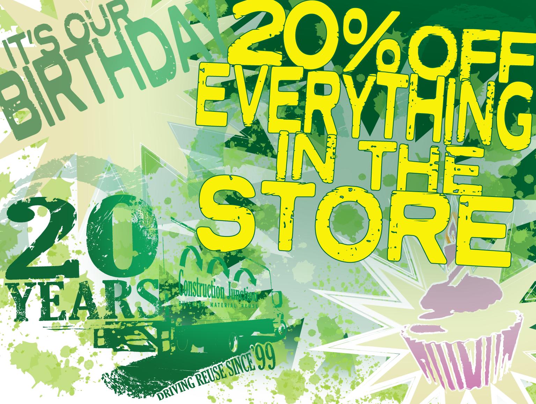 CJ 20th Anniversary Sale