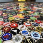 Handmade Arcade Epoxied Bottle Cap Table Made For Big Pour 13