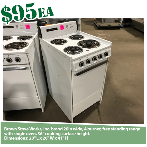 Brown Stove Works 20in Electric Range