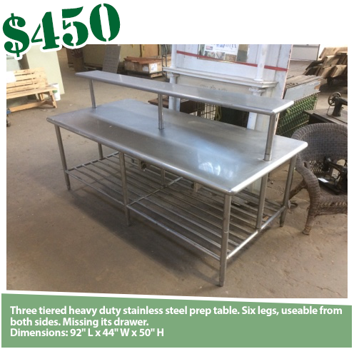 Commercial Stainless Prep Table