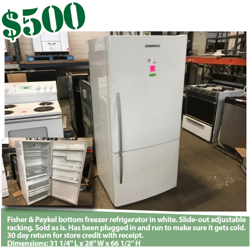 Fisher And Paykel Bottom Freezer Refrigerator