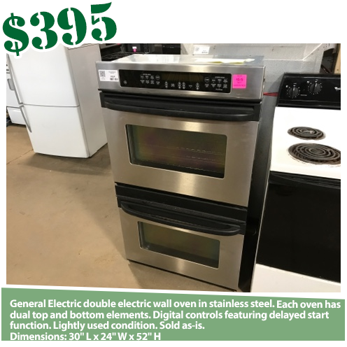 GE Stainless Electric Double Wall Oven
