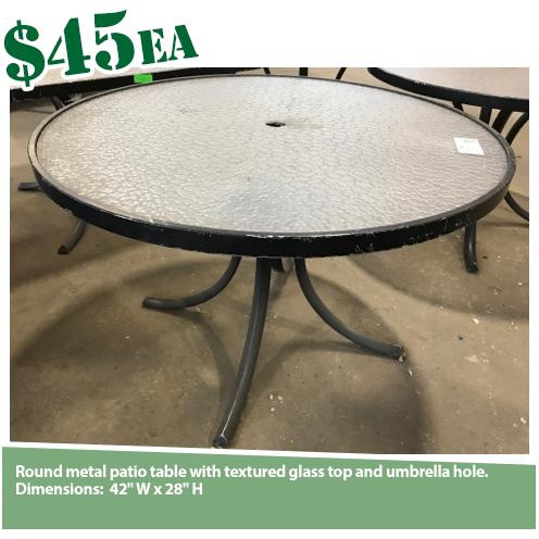 Circular Outdoor Table