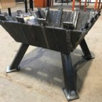 TIP Welding Program created fire pits from practice weld pieces.