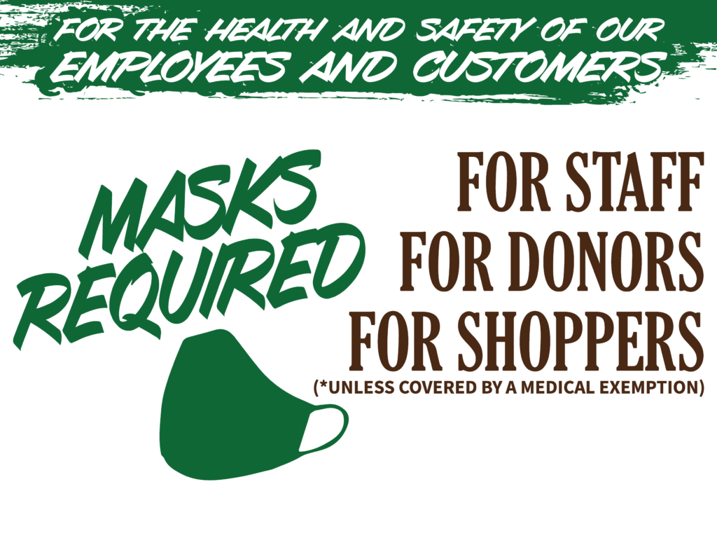 Masks Required for In-Store Shopping