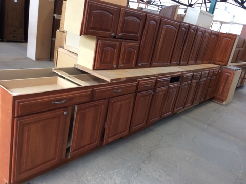 Kitchen Cabinet Set - 15pc Cherry