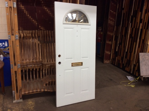 Steel Entry Door w/Half Moon Lite