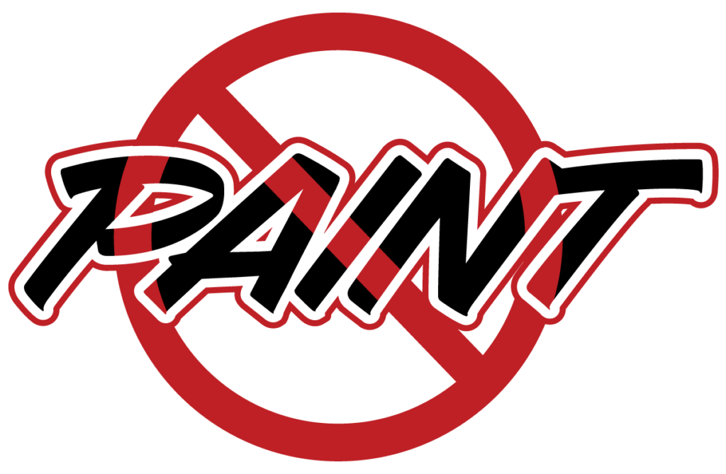 No Paint Accepted Image - Red circle with line crossing out PAINT text.