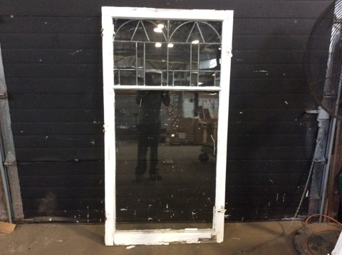 Leaded Glass Hinged Window Sash A