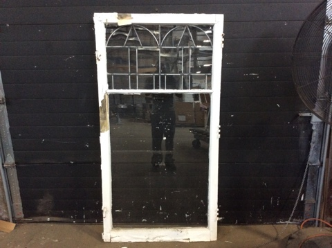 Leaded Glass Hinged Window Sash B