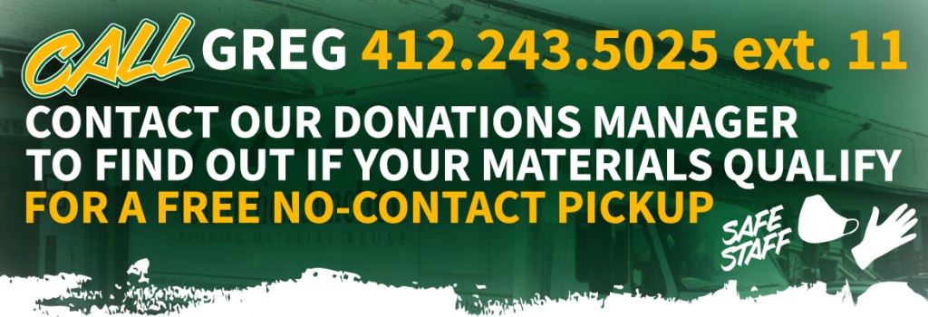 Click a button below to contact our donations manager regarding our free pickup service