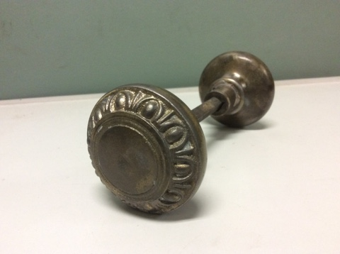 Brass Egg and Dart Door Knob Set