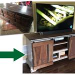 Dresser To TV Stand Transformation
