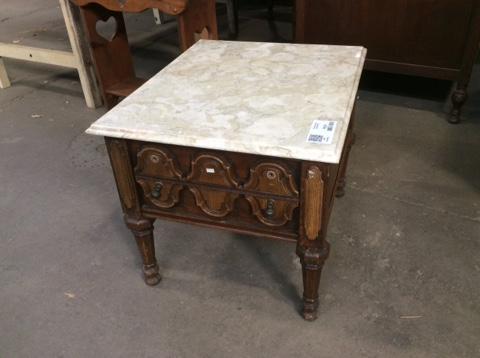 End Table w/Stone Top