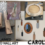 Reclaimed Wood Wall Art - Submitted by Carolyn - Decorate It Yourself with new wall hangings made from recaimed wood.