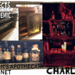 Witch's Apothecary Cabinet - Submitted by Charles - A spooky set piece for a haunted house made entirely from used and found items.
