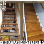 Bookshelf Basement Steps - Submitted by Del - Redone with bookshelf pieces.