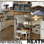 Kitchen Remodel - Submitted by Heather - A workbench and a blue sink transform this kitchen.
