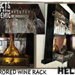 Mirrored Wine Rack - Submitted by Helen - A wall-hanging mirrored wine rack made with secondhand items.