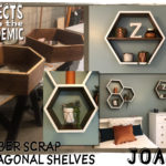 Lumber Scrap Octagonal Shelves - Submitted by Joann - Work from home + leftover lumber scraps = the perfect scenario