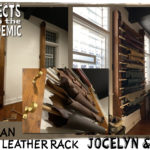 Organ Pipe Leather Rack - The perfect addition to a renovated live/work space in an old church.