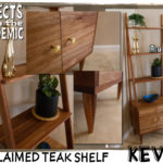 Reclaimed Teak Shelf - Submitted by Kevin - Made more from less with an incomplete modular shelving unit.