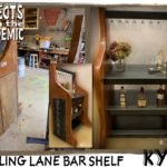 Bowling Lane Bar Shelf - Submitted by Kyle - Bowling ball return ramps transformed into a sturdy wine rack.
